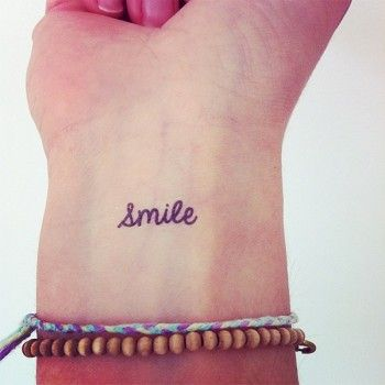 Love this - not sure I'd be brave enough to get it on my wrist though!