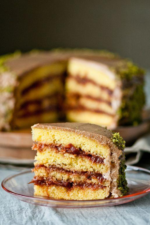 Chai Saffron-Plum Cake