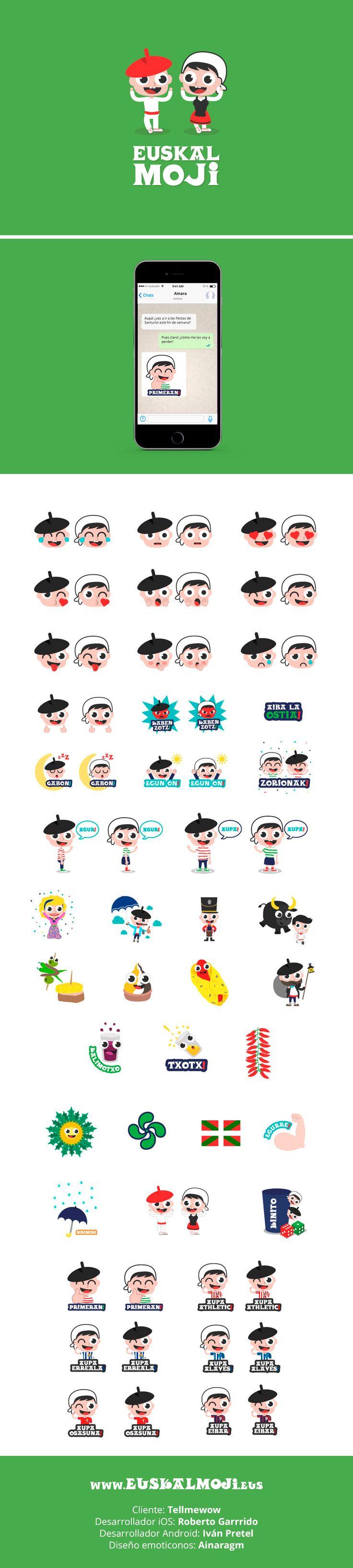 Diseño de emoticonos para la app Euskalmoji. #emoticono #emoji #icono #ilustracion