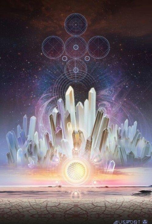 Crystals, sacred geometry