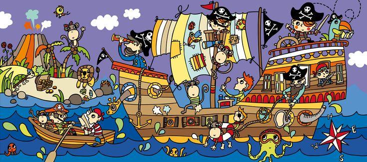 Praatplaat piraten kleuters