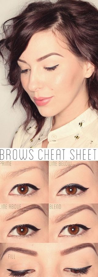 how to fill in eyebrows tutorial