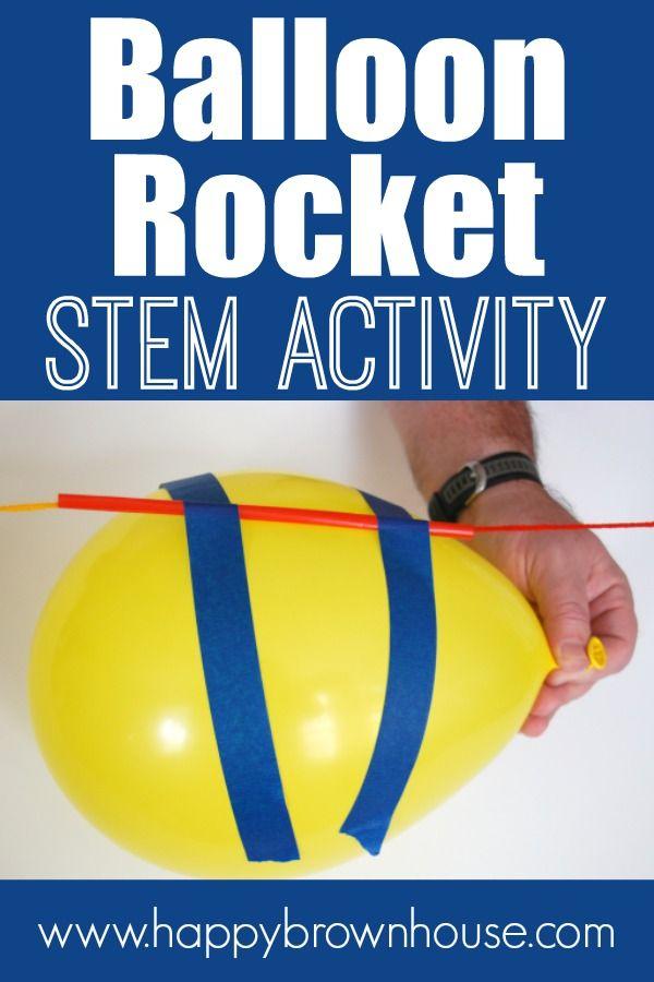 Balloon Rocket STEM Activity for Kids