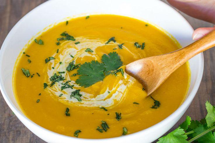 Crema de auyama y zanahoria