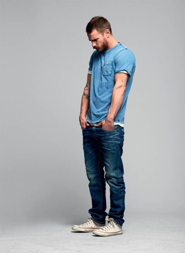Like this style. Like the fit of the shirt and jeans