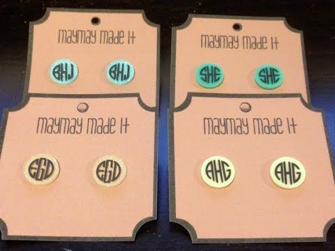 How to make monogram acrylic earrings using vinyl and Cricut Explore - YouTube