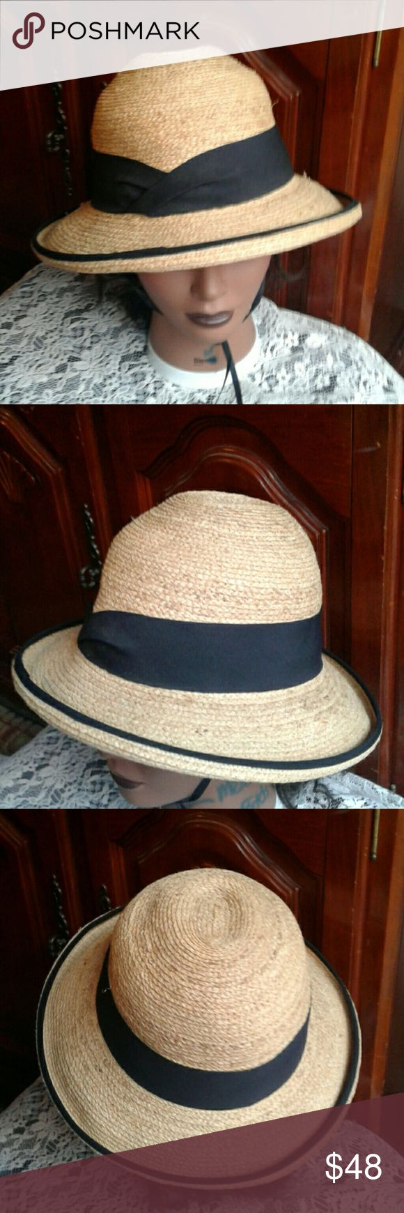 """THE TILLEY RAFFIA PALM HAT """"BRAND NEW"""" UPF 50 + SUN-BLOCK RATING + PACKABLE + REMOVABLE SWEAT BAND + WATER RESISTANT FINISH THE TILLEY  Accessories Hats"""
