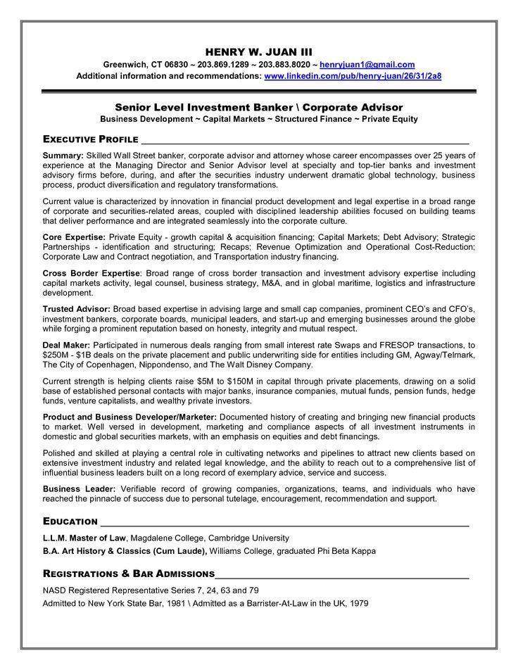 Investment Banker Resume Sample - http://www.resumecareer.info/investment-banker-resume-sample-4/