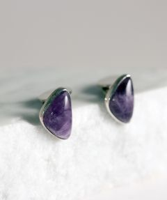 Silver and amethyst cufflinks by Victor Jansson