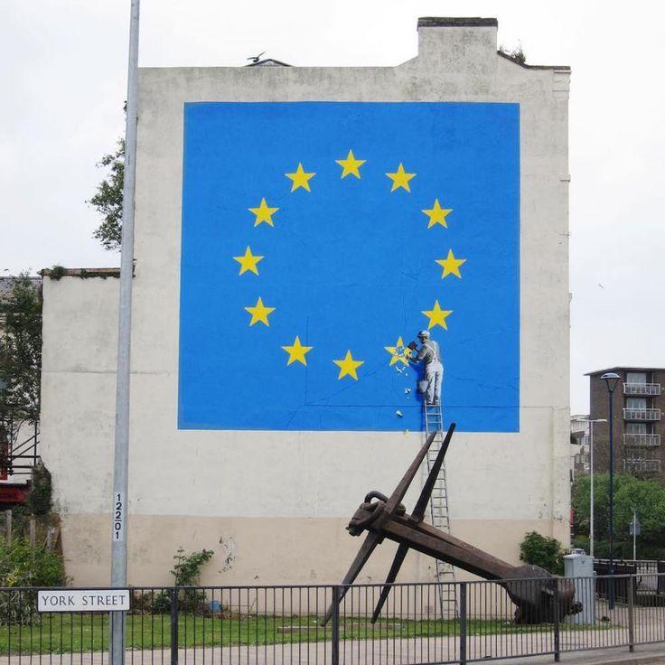 """Banksy """"Anti Brexit"""" Mural in Dover"""