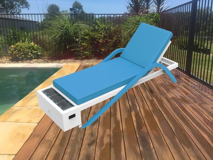 Solar Sun Lounge Style 1 Blue