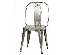 Pomax - Industriële stoel Iron van metaal