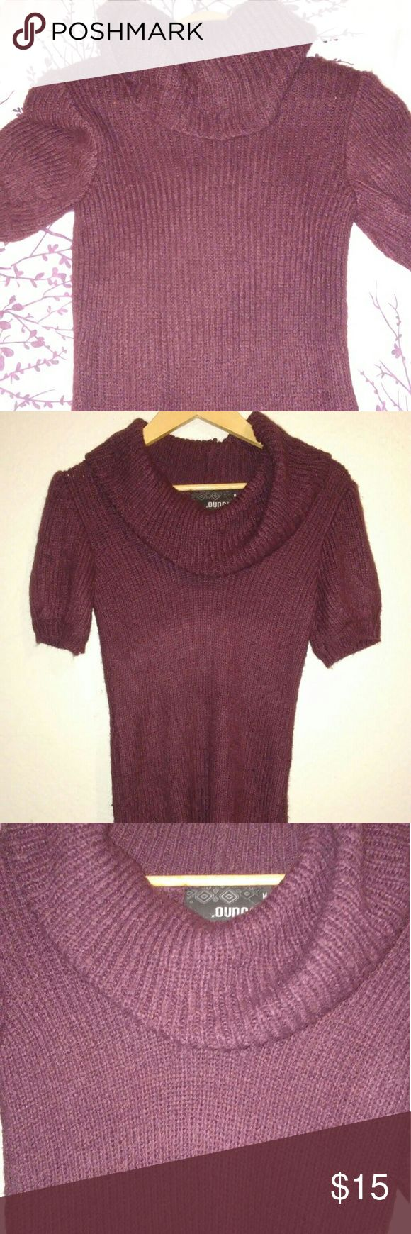 Burgundy Dress Great look with leggins during the winter. Size M. Color: Burgundy. Condition: Very good condition. No imperfections .Ounce Dresses