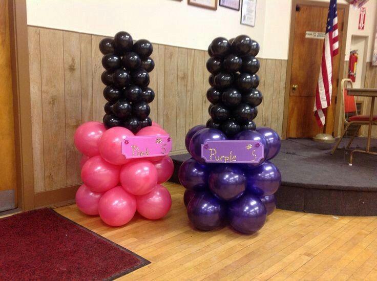Nail polish balloon columns