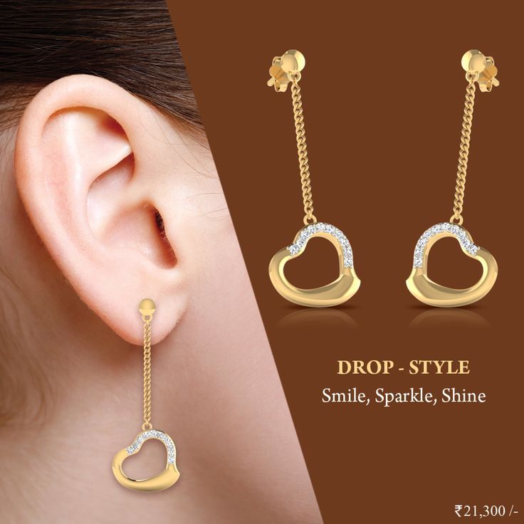 Our Dimono Drop earrings have a very special place in our heart.#Drops #Earrings #DiamondEarrings #IskiUski