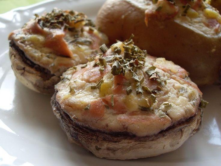 Pommes de terre et champignons de Paris farcis à la paysanne (Vegan)