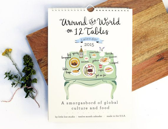 Twelve Tables 2015 Calendar  around the world on 12 by littlelow