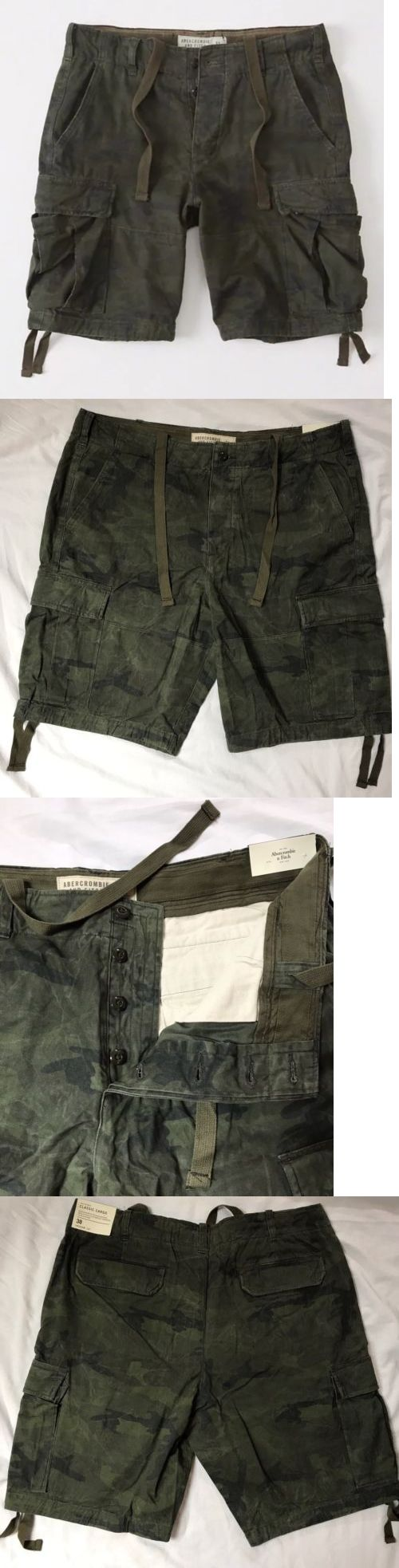 Shorts 15689: 2017 Abercrombie And Fitch Men Classic Cargo Short New With Tag Size 38 -> BUY IT NOW ONLY: $56.5 on eBay!