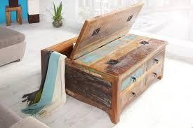 Afbeeldingsresultaat voor kist blauw salontafel