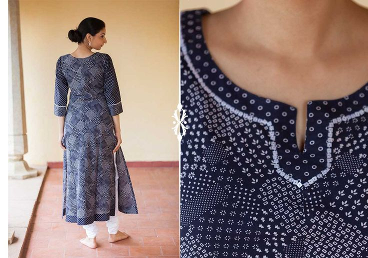 Kurtis for women - Navy Blue Kurta by Suvasa PC 16694 - 1