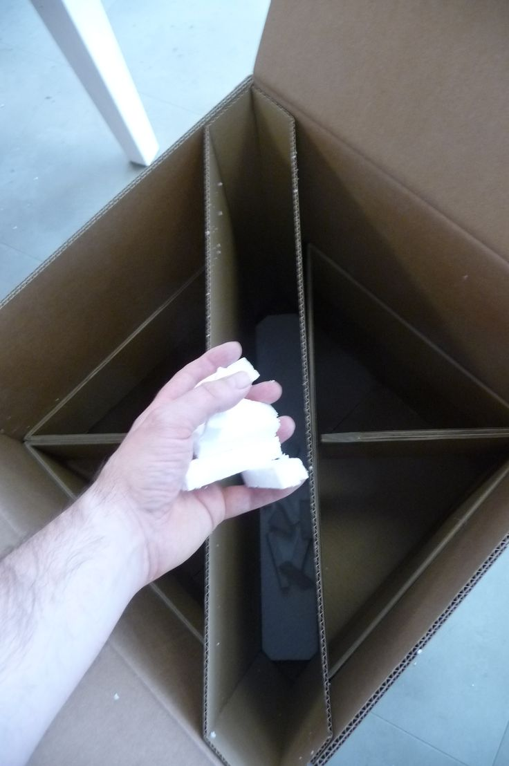 The base of the box has a thick layer of solid foam, its then filled up with tidy foam blocks.