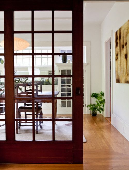 28 best images about sliding doors on pinterest pocket - Doors to separate kitchen from living room ...