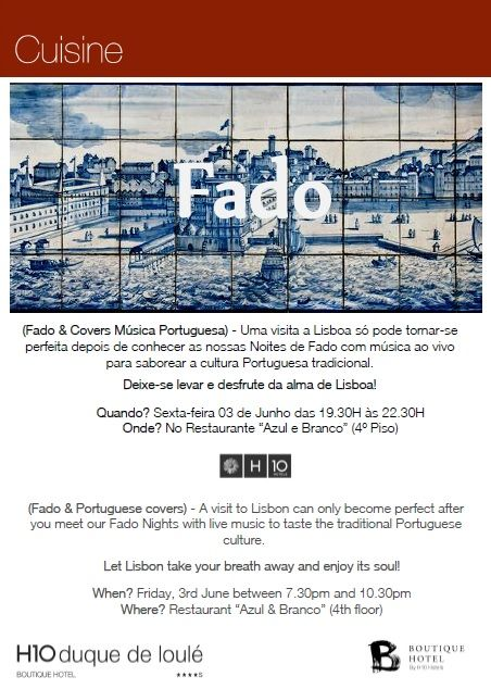 A visit to Lisbon can only become perfect after you meet our Fado Nights with live music to taste the traditional Portuguese culture.