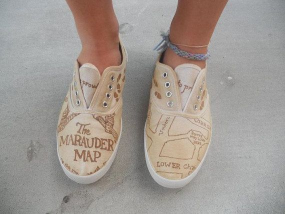 Marauders Map shoes for $49 (via @Pin Pals) awesome.