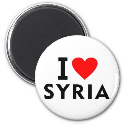 #I love Syria country like heart travel tourism Magnet - #country gifts style diy gift ideas