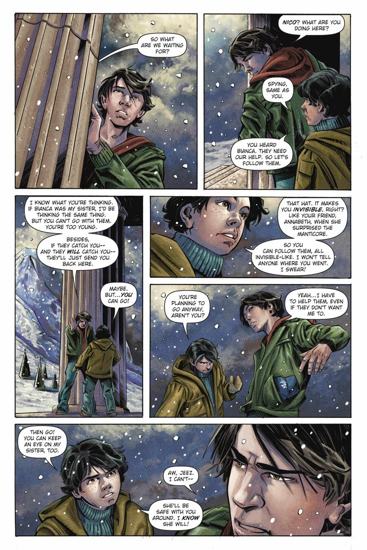 The Titan's Curse graphic novel. Percy Jackson and Nico di ...