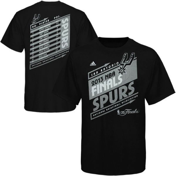 adidas San Antonio Spurs 2013 NBA Finals Bound Marquee Roster T-Shirt - Black - $19.99