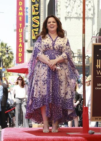 Melissa McCarthy gets her star on the Hollywood Walk of Fame | ElegantPlus.com Curvy Celebrity Style Board