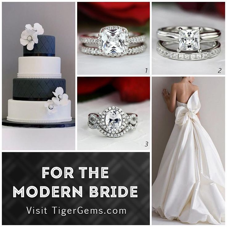 Our top 3 picks for the modern bride from TigerGems.com.  Which one is your favorite? - 1️⃣ 1 ctw classic princess halo set 2️⃣ 1.25 ctw princess wide solitaire set 3️⃣ 2 ctw oval twisted halo set