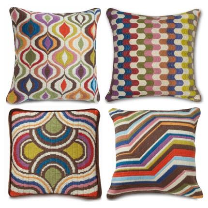 bargello pillows