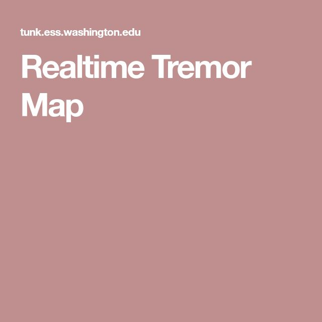 Realtime Tremor Map