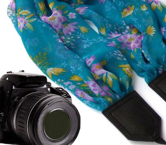 InTePro fiori sciarpa cinghia della fotocamera. Cinghia di InTePro