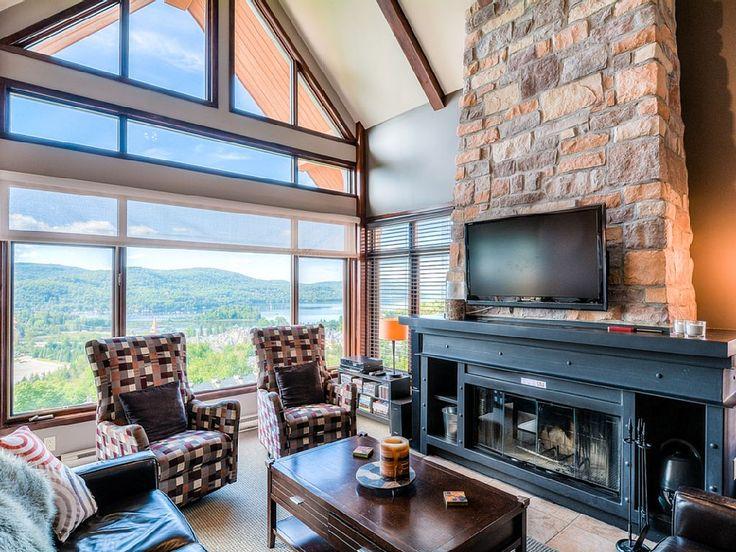 Condo vacation rental in Village Pietonnier (Mont-Tremblant, QC, Canada) from…