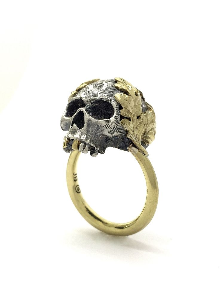 Saint V Ring - handcrafted in sterling silver and 18k yellow gold from Sirkel Jewellery Design