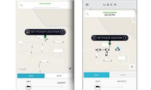 Have Uber's 'phantom cars' disappeared? UberX in August (L) and July (R).