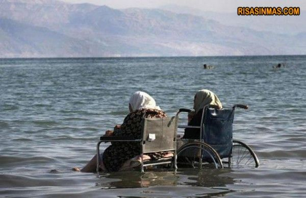 This will be my sister and me when we get old still loving the ocean.