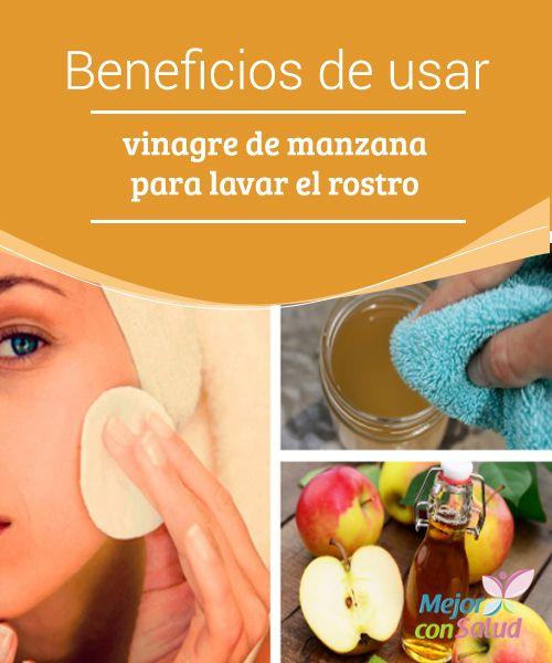 Beneficios de usar vinagre de manzana para lavar el rostro Si queremos evitar reacciones alérgicas es muy importante que diluyamos el vinagre en agua. Lo aplicaremos por la noche para evitar el contacto con el sol, ya que puede dejar manchas en la piel
