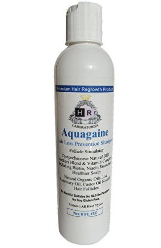 Introducing Aquagaine Premium Hair Loss Prevention  Restoration Shampoo with Organic Rosemary  Castor Oil Natural DHT Blockers and Biotin for Hair Growth  Sulfate Free No Soy For Men  Women 8 OZ. Great Product and follow us to get more updates!
