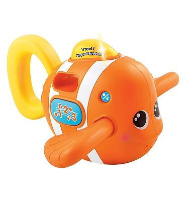Vtech Baby Sing and Splash Fish 10101957 48 Advantage card points. Make bath time fun with the Baby Sing and Splash Fish from Vtech. Enjoy the funny sing along songs and watch as the fishs fin lights up. Bath time has never been so much fun! http://www.MightGet.com/february-2017-1/vtech-baby-sing-and-splash-fish-10101957.asp
