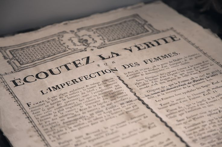 Ecoutez la vérité sur l'imperfection des femmes ..!! texte du XVIIème ...