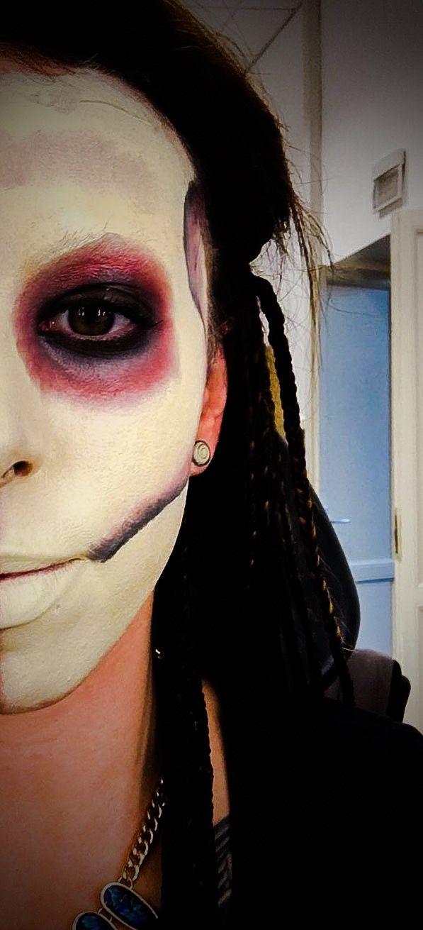 Trucco halloween teschio, effetti speciali