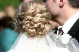 Sweet bridal hairstyle