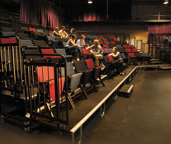 Audience Seating Upper Deck Tiered Risers Are Perfect For