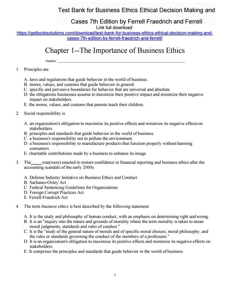 173 best test bank images on pinterest banks management and test bank for business ethics ethical decision making and cases 7th edition by ferrell fraedrich and fandeluxe Gallery