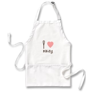 """I Heart Baking with a clever placement of the whisk to replace the """"I"""". I do """"heart"""" baking, especially if I'm deemed someone's official taste tester :)"""
