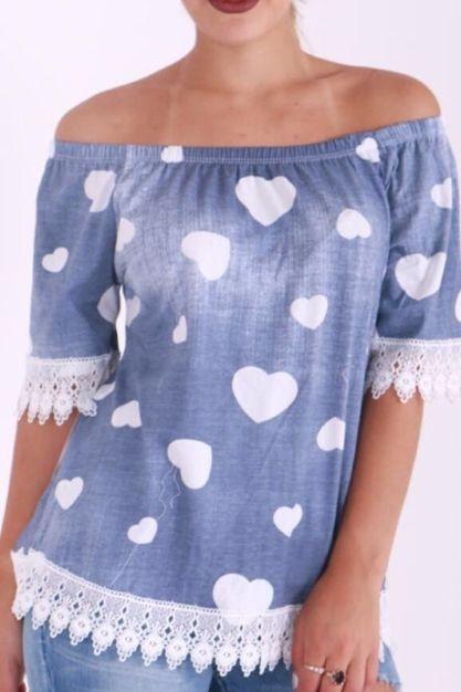 Needthatstyle - Layla Heart Denim Effect Lace Crochet Bardot Top, £16.00 (http://www.needthatstyle.com/layla-heart-denim-effect-lace-crochet-bardot-top/)